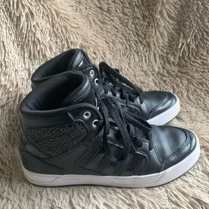 Adidas High Top With Leopard Print Size 7.5